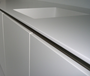Ante e piano in Corian